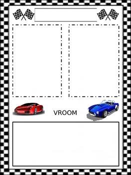 Race car Newsletter Template