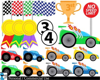 Race car v2 - Clip Art Digital Files Personal Commercial Use cod227