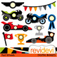 Race cars and motorcycles clip art bundle (transportation clipart)