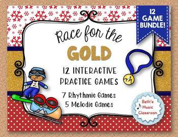 Race for the GOLD! MEGA BUNDLE - Rhythmic & Melodic Relay Games