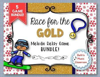 Race for the GOLD! Winter Games MELODIC Relay - BUNDLE of 5 Melodic Games!