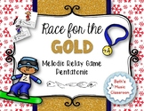 Race for the GOLD! Winter MELODIC Relay Game - Re (Pentatonic)