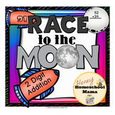 Race for the Moon 2 Digit Addition Game and Activity Pack