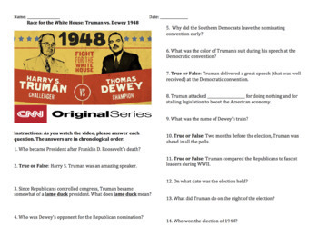 Race for the White House: Truman vs. Dewey 1948 - Complete Video Guide
