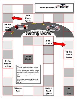 Race the Phrase - Grammar Board Game