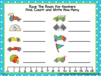 Race the Room for Numbers-Differentiated Write The Room For Common Core