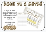 Race to 1 Metre - A Measurement Board Game Using cm and m