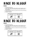 Race to 10,000 - Multi-Digit Addition Game!