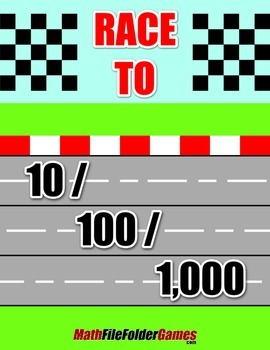 Race to 10 / 100 / 1000 {Place Value Game}