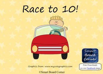 Race to 10 Math Smart Board Lesson