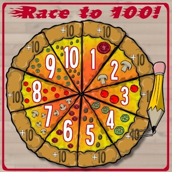 Race to 100! -- A Pizza-Eating Addition Game