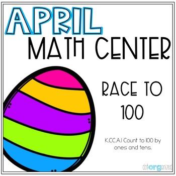 Race to 100 Easter Kindergarten April Math Center