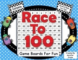 Race to 100!  Editable Game Boards For Numbers to 100 Fun!  Color & B&W