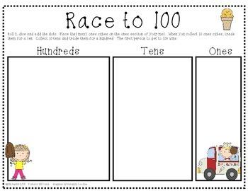 Race to 100 - Ice Cream Kids Edition