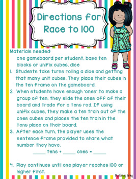 Race to 100 ~ Spring Themed