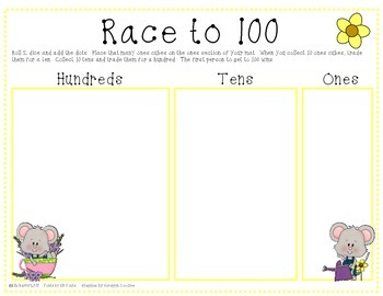 Race to 100 - Springtime Mouse Edition