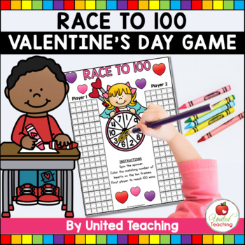 Race to 100 Valentine's Day Free Counting Game