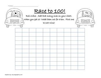 Race to 100 mat- FREEBEE
