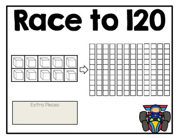 Race to 120 Place Value Freebie