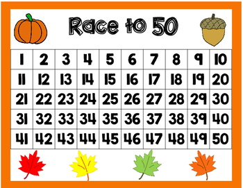 Race to 20, 30, 50, or 100 Fall Edition