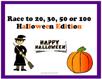 Race to 20, 30, 50, or 100 Halloween Edition