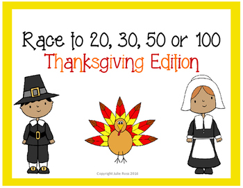 Race to 20, 30, 50, or 100 Thanksgiving Edition