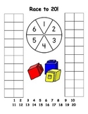 Race to 20 Counting and Number Sense Game