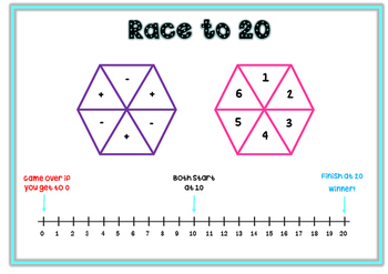 Race to 20 addition and subtraction game