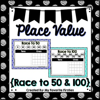 Race to 50 - 100 Place Value Trade In Game - FREEBIE!!