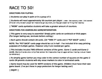 Race to 50! - Fractions