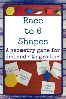 Race to 6 Shapes: A Geometry Game