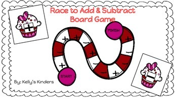 Race to Add & Subtract Board Game