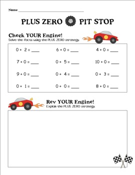 Race to Addition - Mental Math Differentiation