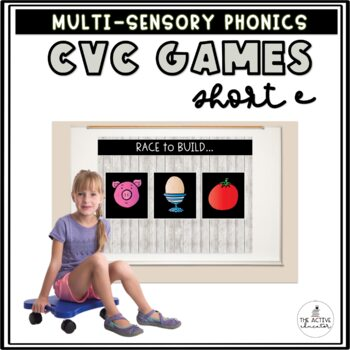 Race to Build: CVC Words!  Vol. 3: Short E