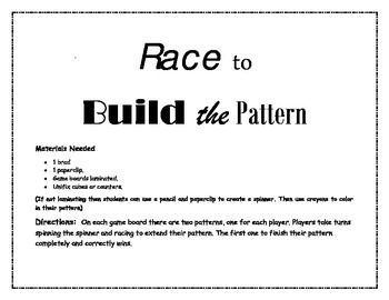Race to Build the Pattern