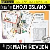 Race to Escape! 4th Grade Math Escape Room ESCAPE EMOJI ISLAND test prep