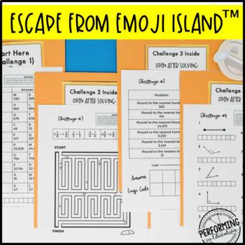 Escape from Emoji Island™ 4th Grade Math Escape Room - Great Test Prep Review!