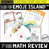 Race to Escape! 5th Grade Math Escape Room ESCAPE EMOJI ISLAND Test Prep