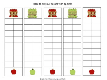 Race to Fill Your Basket {An open ended activity}