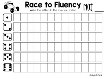 Race to Fluency LNF & LSF Practice Mats