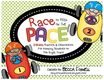 Race to Keep On the Pace: Editable Practice and Intervention Activities