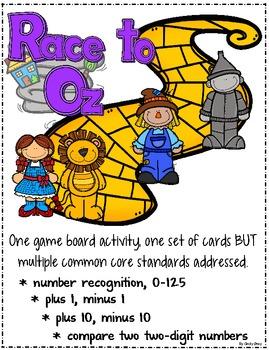 Race to Oz - Number Recognition, Plus 1, Minus 1, Plus 10, Minus 10