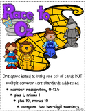 Race to Oz - Number Recognition, Plus 1, Minus 1, Plus 10, Minus 10