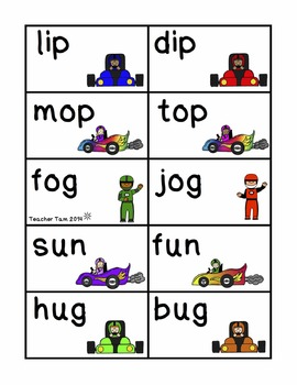 Sight Word Games Kindergarten 1st | Race to Reading Fluency Board Game