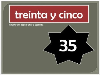 Race to Recognize Numbers 0-39 in Spanish