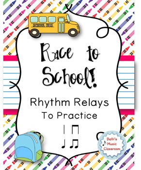Race to School! Rhythm Relay Game - Practice Ta, Ti-ti (Quarter, 8th Notes)