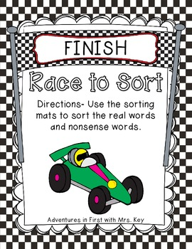Race to Sort-Short and Long Vowels~Real and Nonsense Words