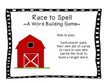 Race to Spell~A Word Building Game