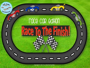 Race to The Finish Review Game– Race Car Edition