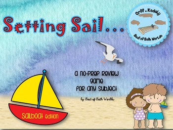 Race to The Finish Review Game– Sailboat Edition